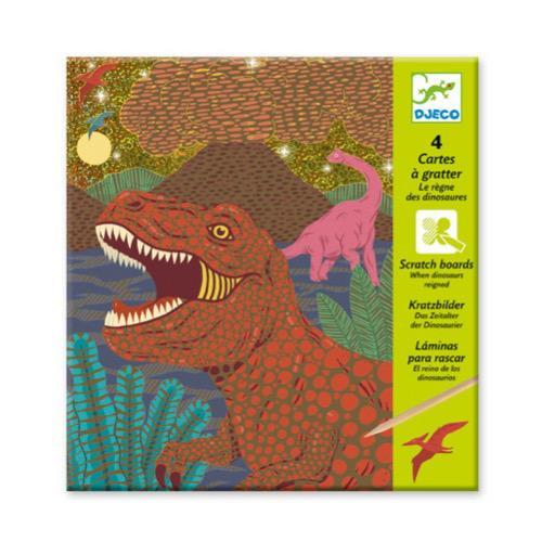 Kratzbilder Dinosaurier