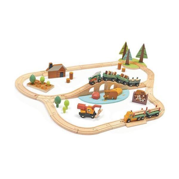 Eisenbahn Wald mit Zubehör