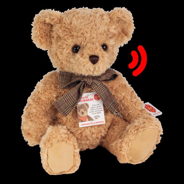 Teddy beige 35 cm mit Brummstimme