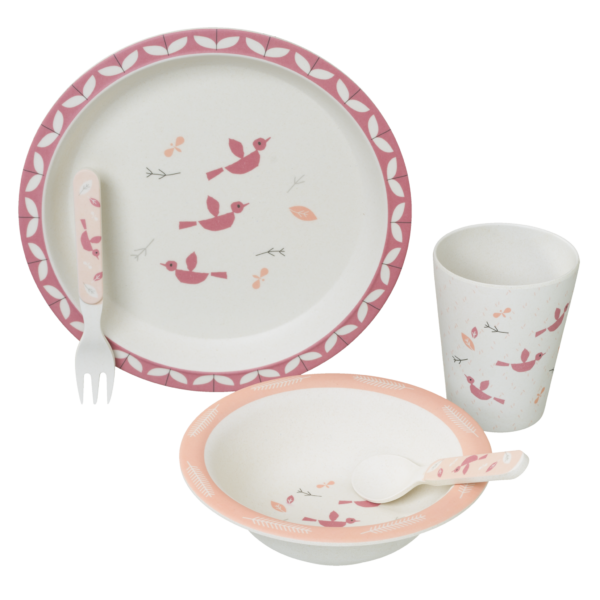 Fresk Bambus dinner Set Birds
