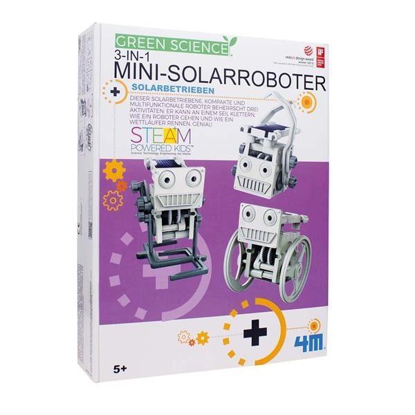 Dieser solarbetriebene, kompakte und multifunktionale Roboter beherrscht drei Aktivitäten: Er kann an einem Seil klettern, wie ein Roboter gehen und wie ein Wettläufer rennen. Genial!