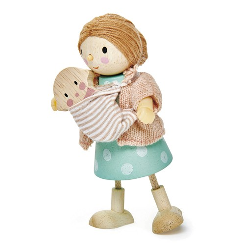 Biegepuppe Mrs Goodwood & Baby