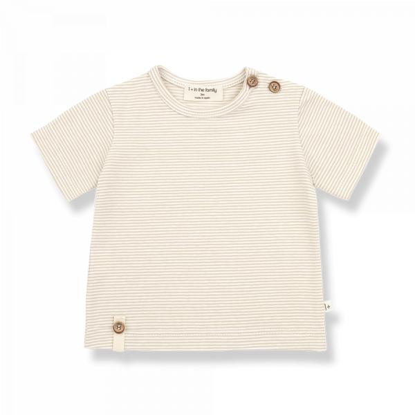1+INTHEFAMILY - T-Shirt BLAI Beige