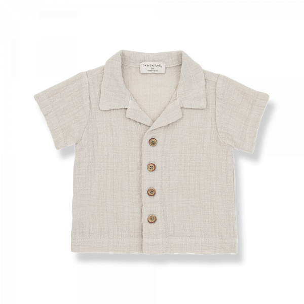 1+INTHEFAMILY - T-Shirt Polo Stone