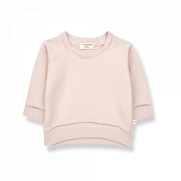 1+INTHEFAMILY - Basic Sweatshirt Tristan Rose