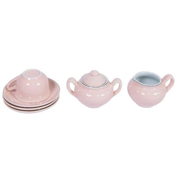 Ein bezaubernder Teeservice aus Porzellan von Moulin Roty im Köfferchen.
