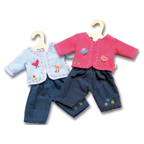Jacke mit Jeans für Puppen Gr.28-35 cm