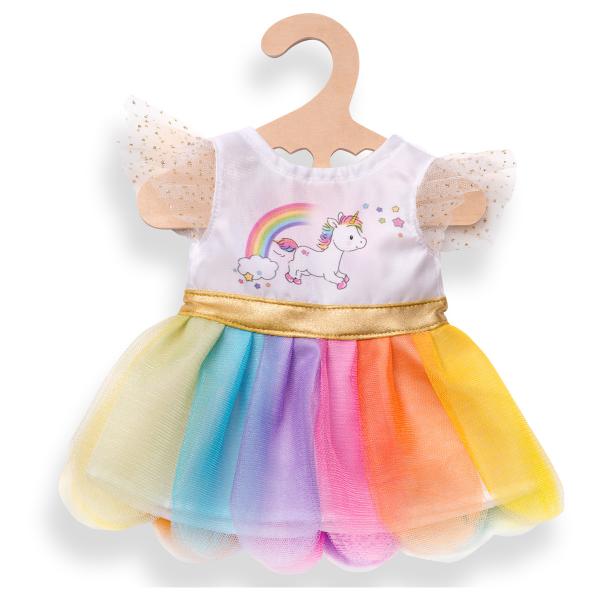 Kleid Einhorn für Puppen 35-45 cm