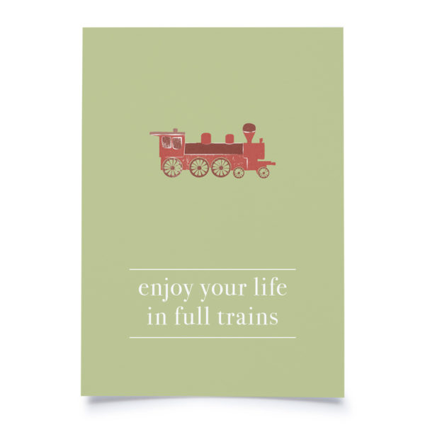 "Fidea Postkarte A6 ""Enjoy your Life"""