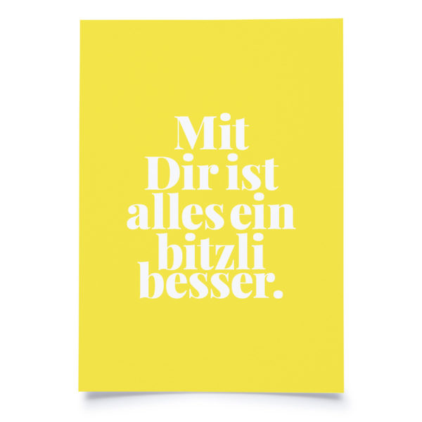 "Fidea Postkarte A6 ""Bitzli Besser"""