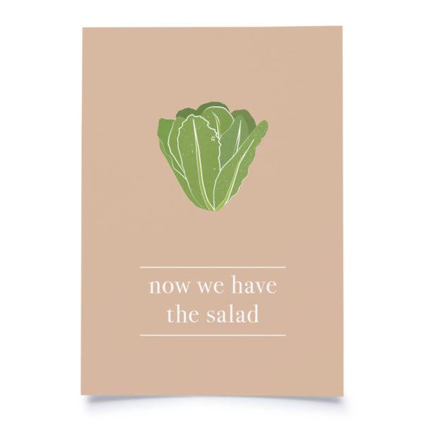 """Fidea Postkarte A6 """"Now we have the Salad"""""""