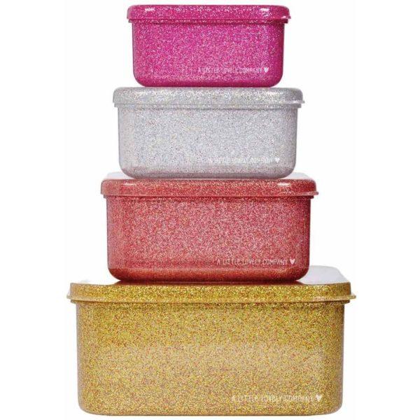 ALLC Lunch & Snack Box Set Glitter Gold