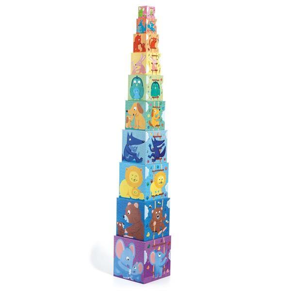 Pyramide Rainbow (10 Würfel)